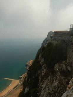 Utsikt fra klippen mot Afrika