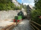 Toget på vei opp til hagen
